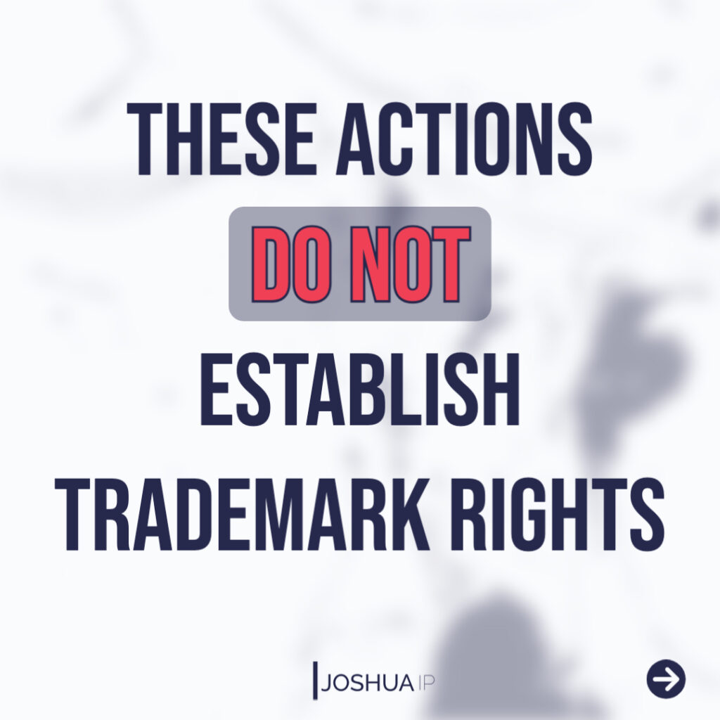No trademark rights